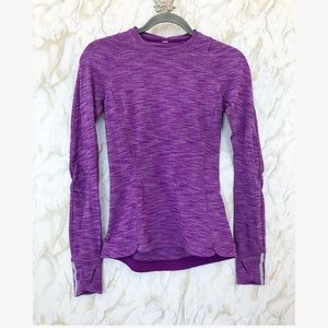 Lululemon 4 pullover purple base layer active yoga